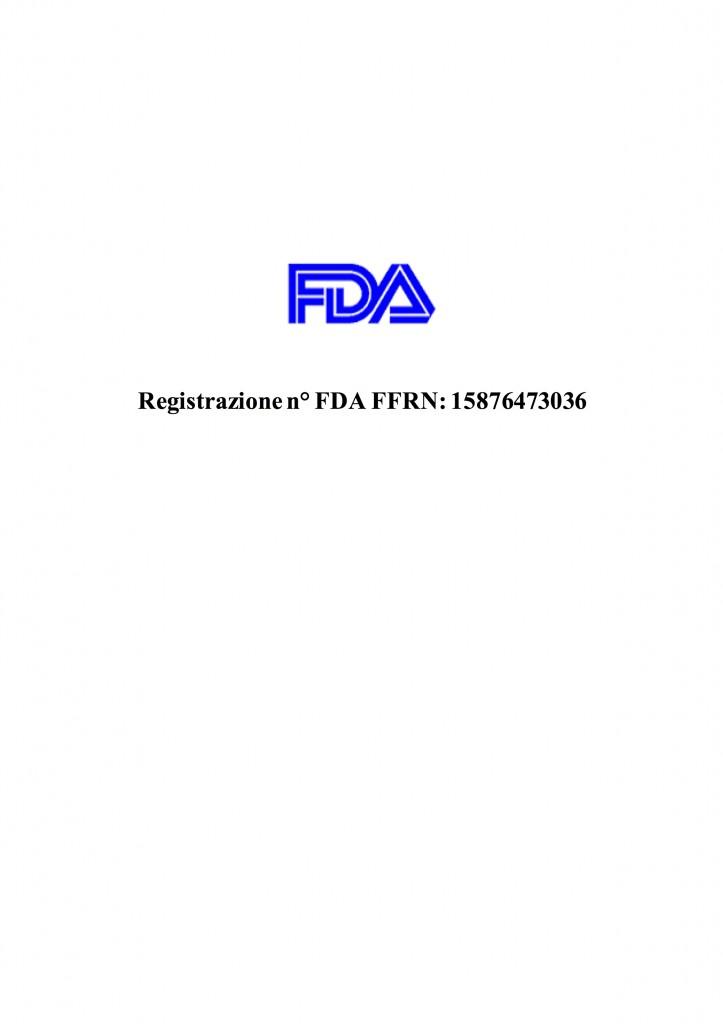 Registrazione n° FDA FFRN