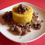 Risotto allo Zafferano con Salsiccia Porri e Gorgonzola